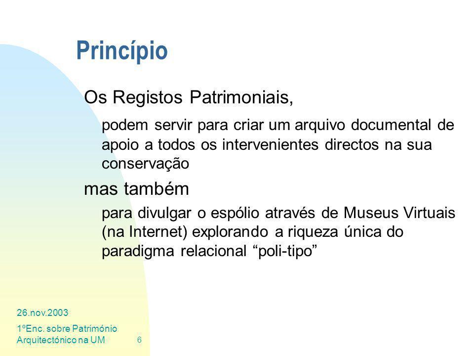 Princípio Os Registos Patrimoniais,