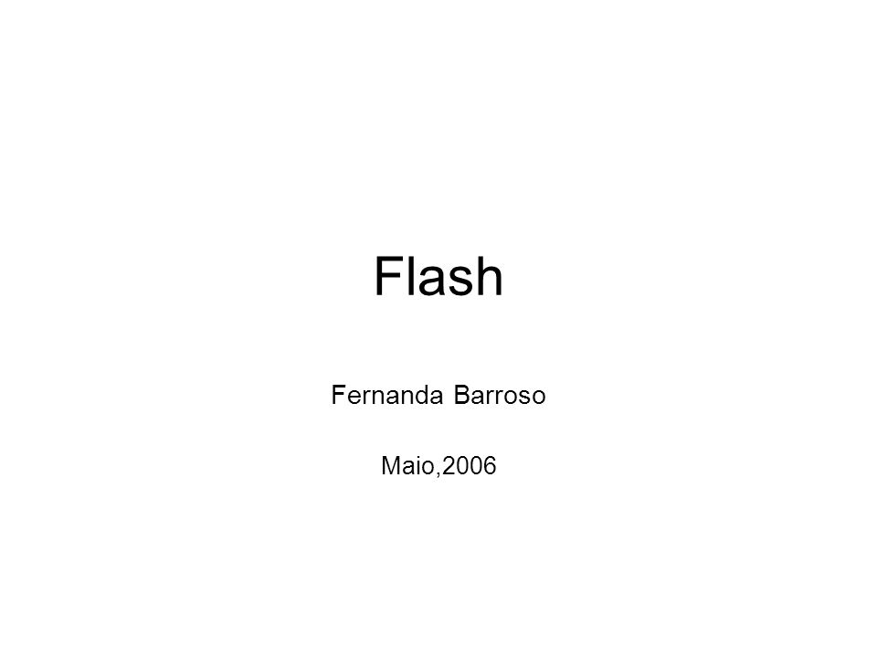 Flash Fernanda Barroso Maio,2006
