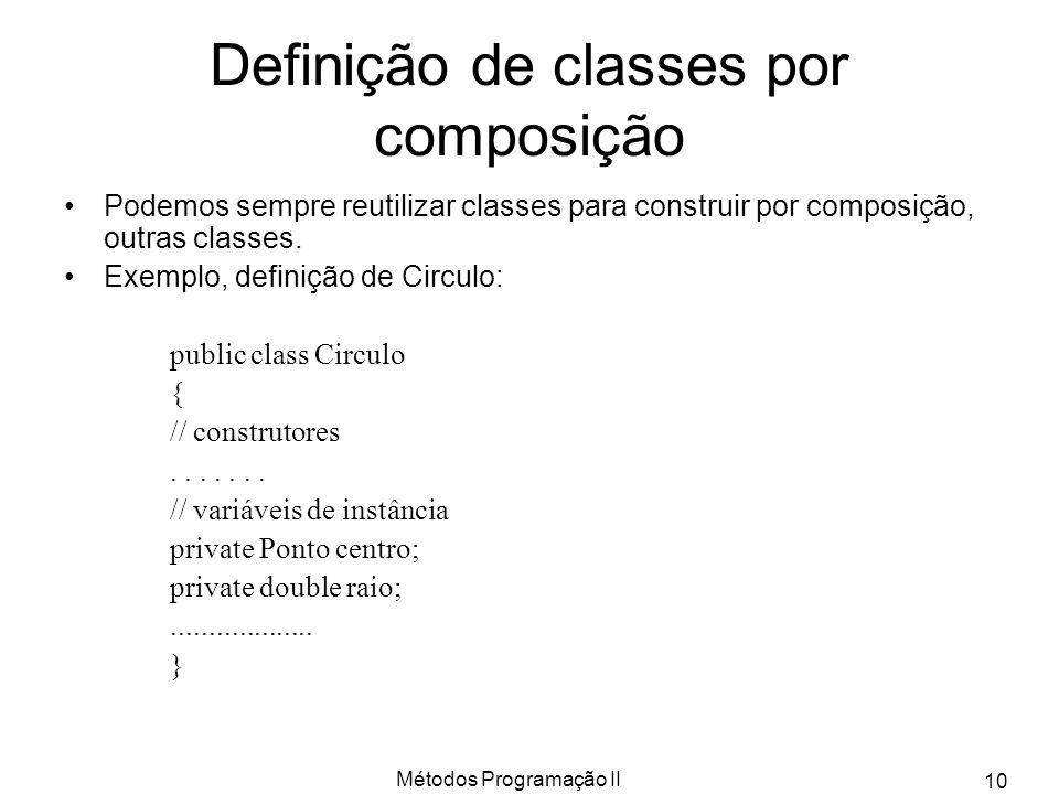 Definição de classes por composição