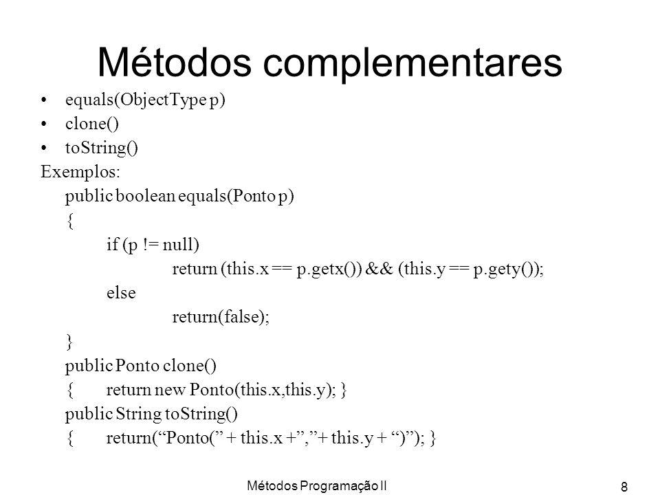 Métodos complementares