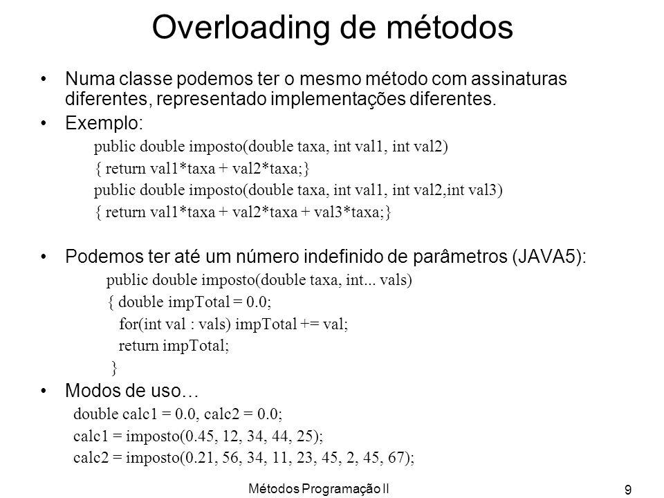 Overloading de métodos