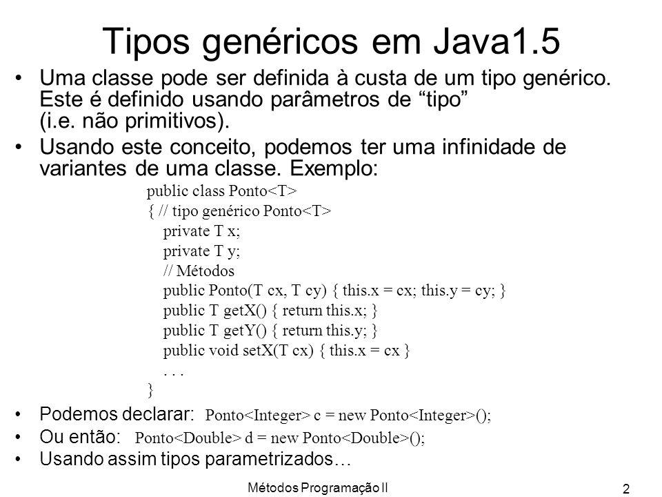 Tipos genéricos em Java1.5