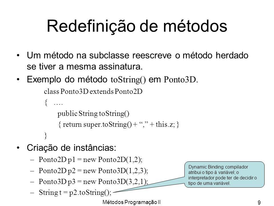 Redefinição de métodos