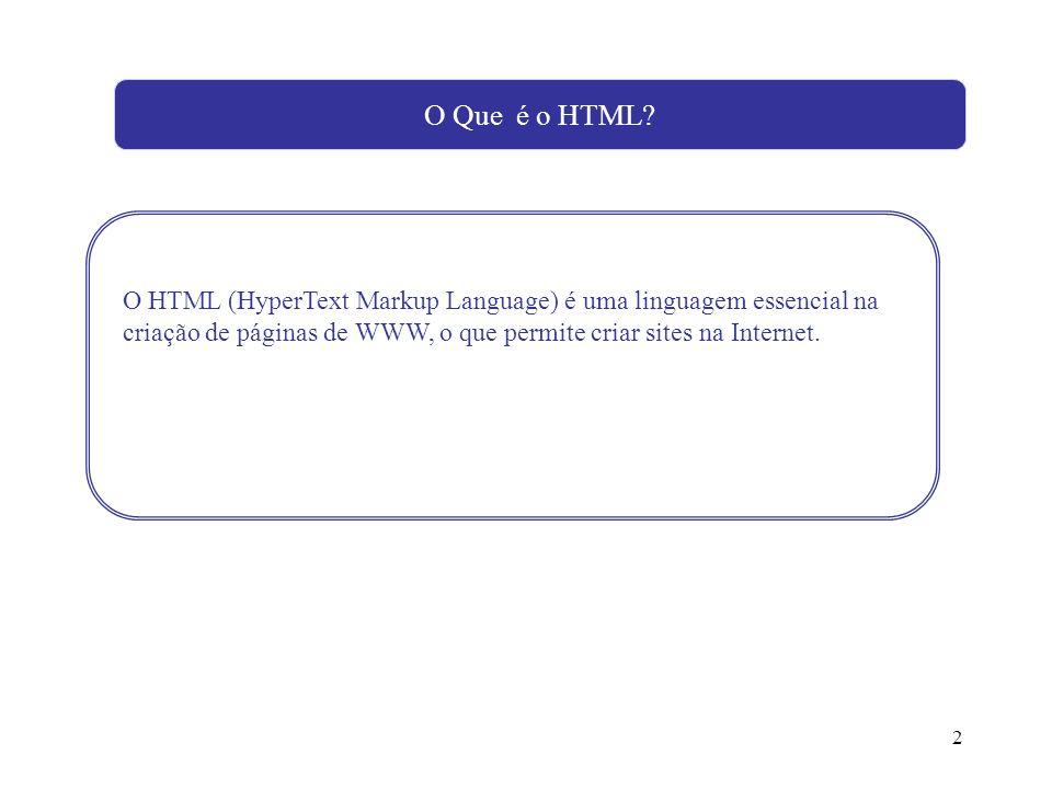 O Que é o HTML.