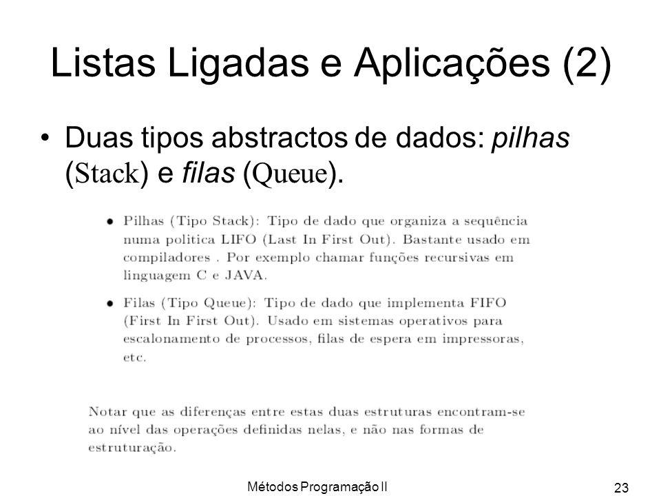 Listas Ligadas e Aplicações (2)