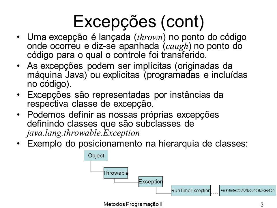 Excepções (cont)