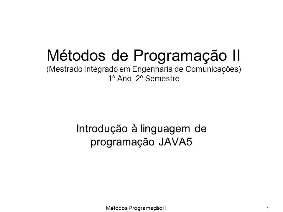 Introdução à linguagem de programação JAVA5