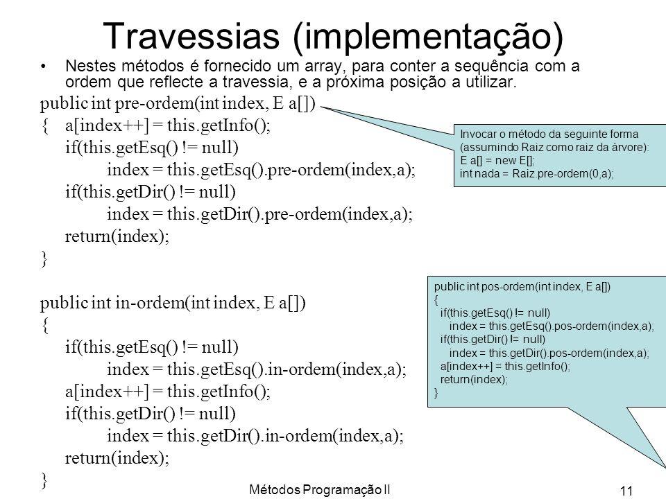 Travessias (implementação)
