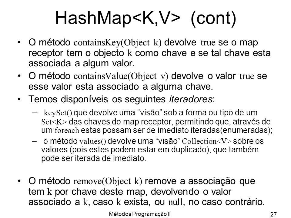 HashMap<K,V> (cont)