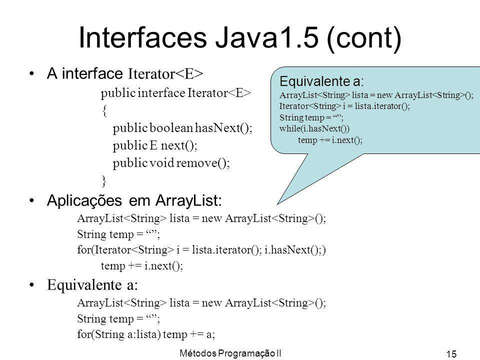 Interfaces Java1.5 (cont)