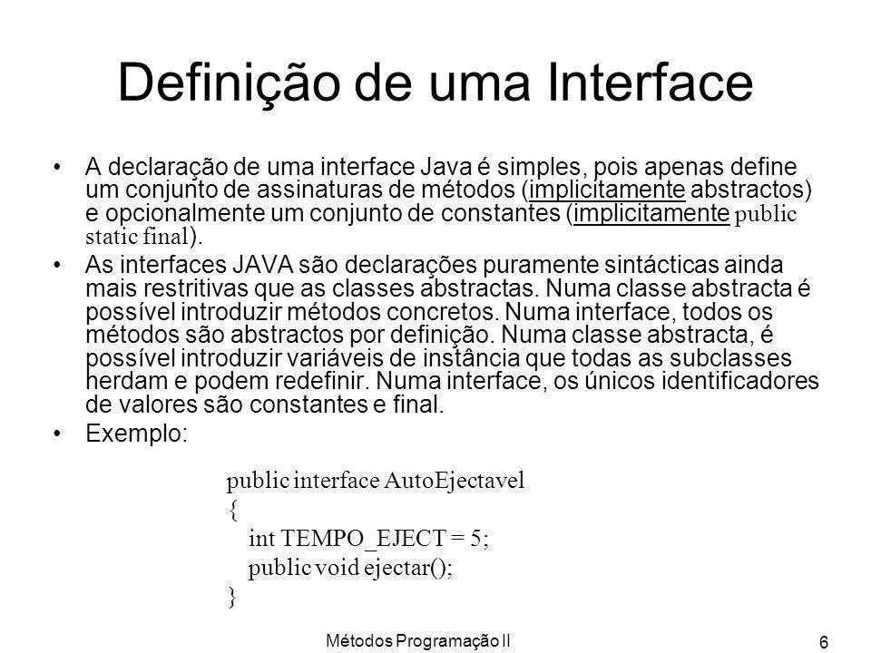 Definição de uma Interface