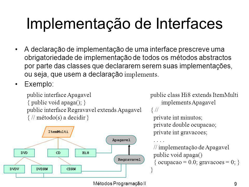 Implementação de Interfaces