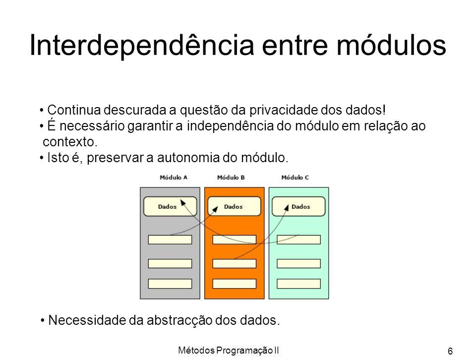 Interdependência entre módulos