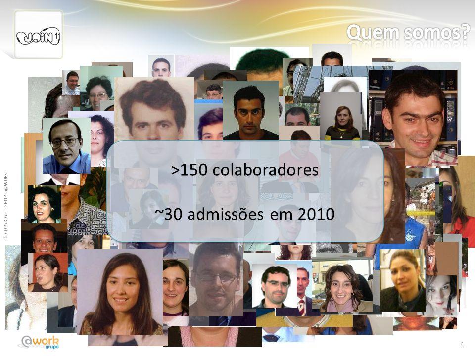 Quem somos >150 colaboradores ~30 admissões em 2010