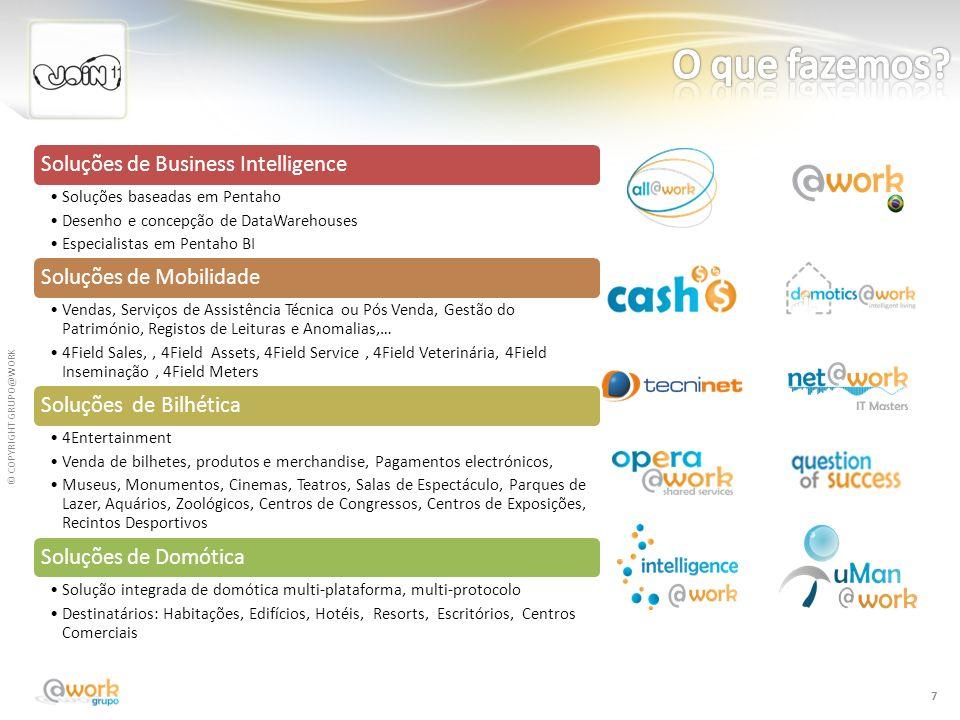 O que fazemos Soluções de Business Intelligence