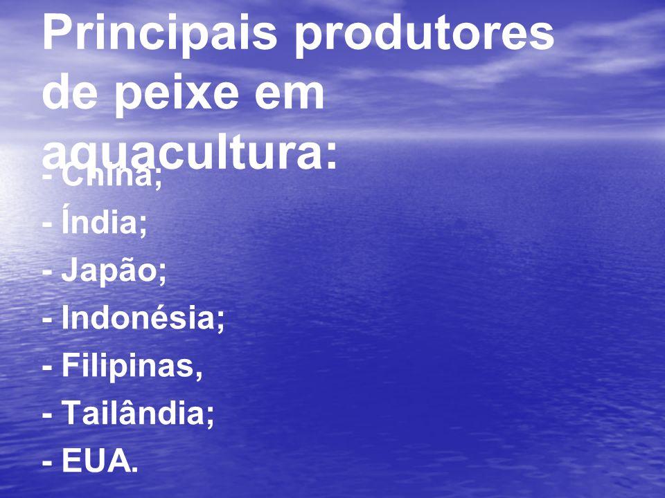 Principais produtores de peixe em aquacultura: