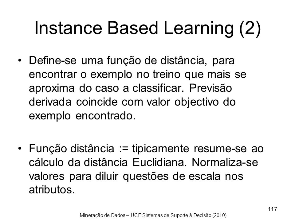 Instance Based Learning (2)