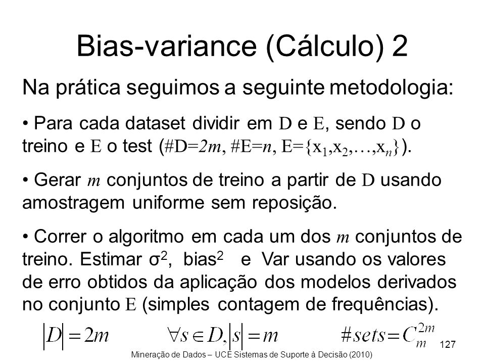 Bias-variance (Cálculo) 2