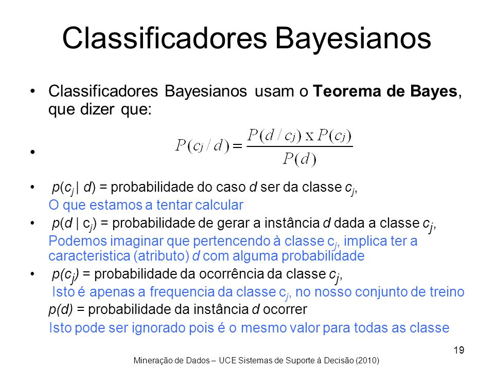 Classificadores Bayesianos