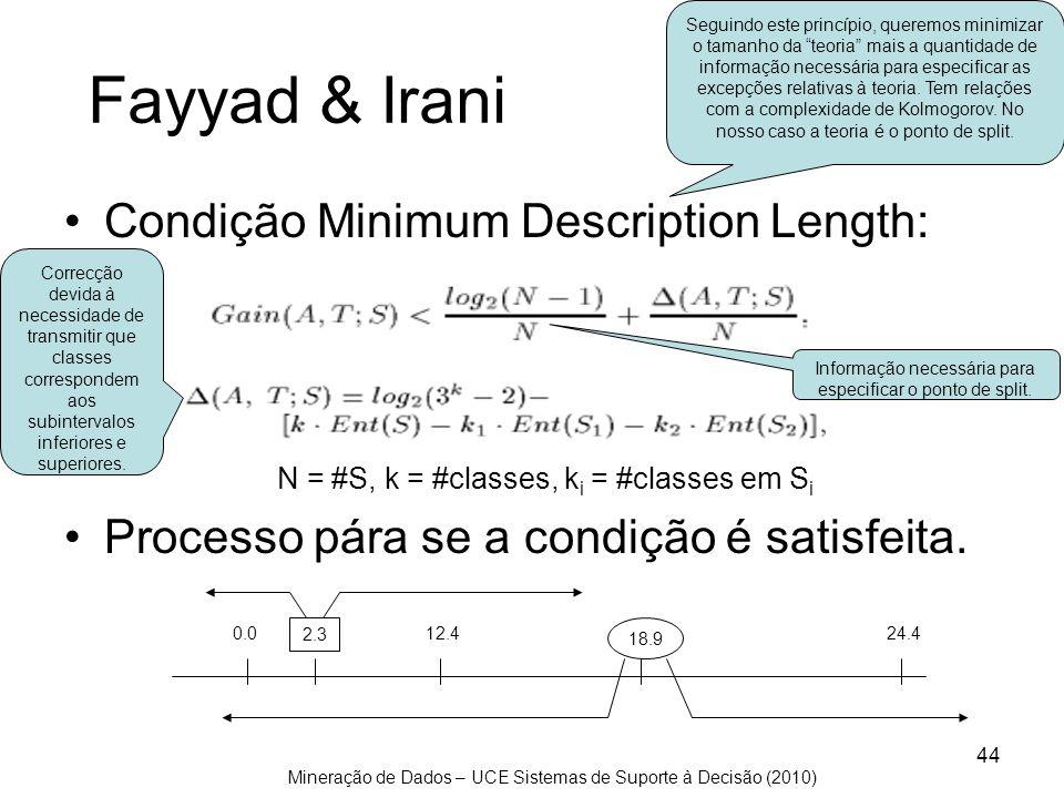 Informação necessária para especificar o ponto de split.