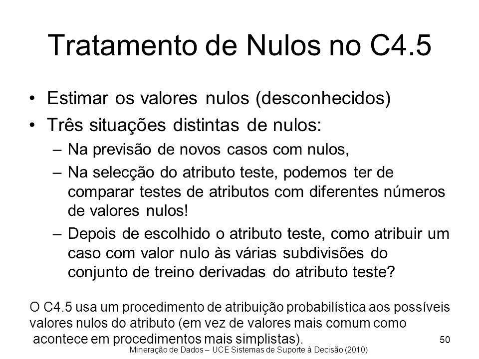 Tratamento de Nulos no C4.5
