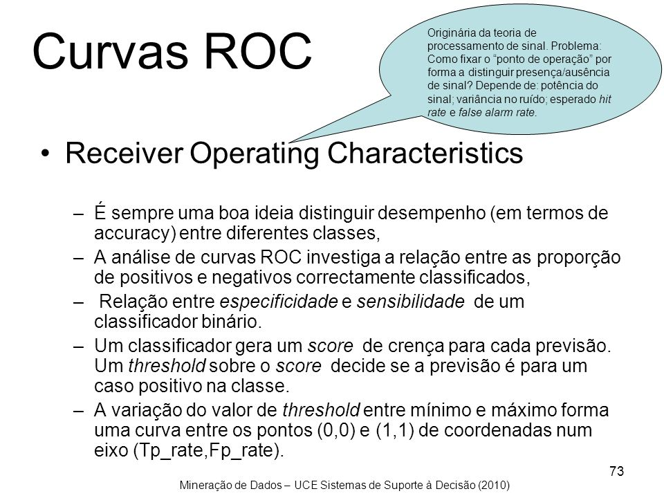 Curvas ROC Receiver Operating Characteristics