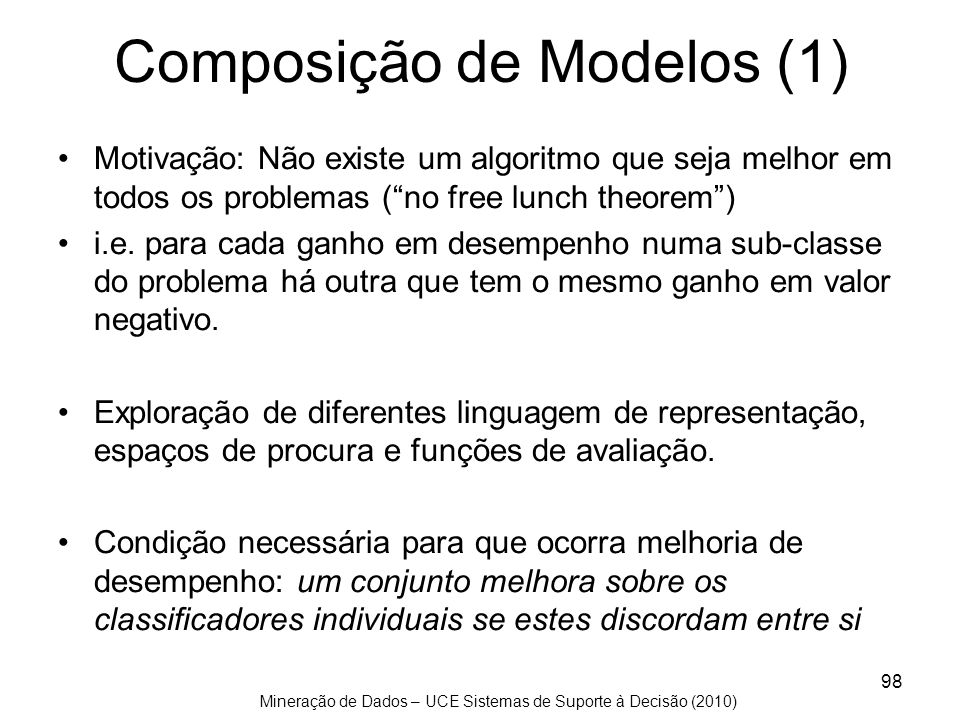 Composição de Modelos (1)