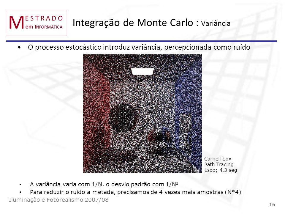 Integração de Monte Carlo : Variância