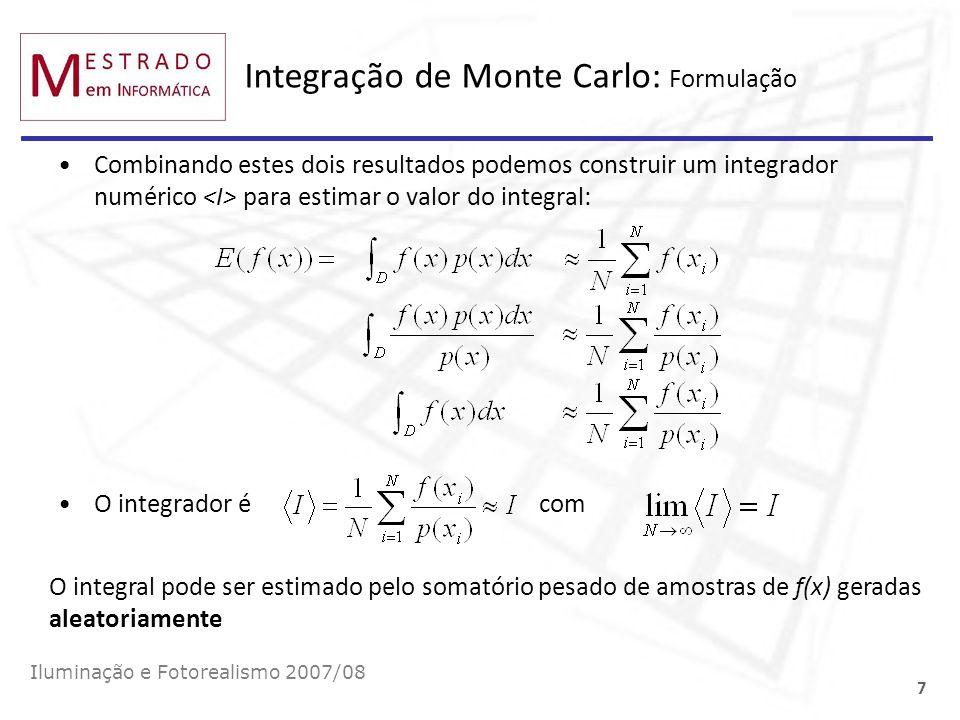 Integração de Monte Carlo: Formulação