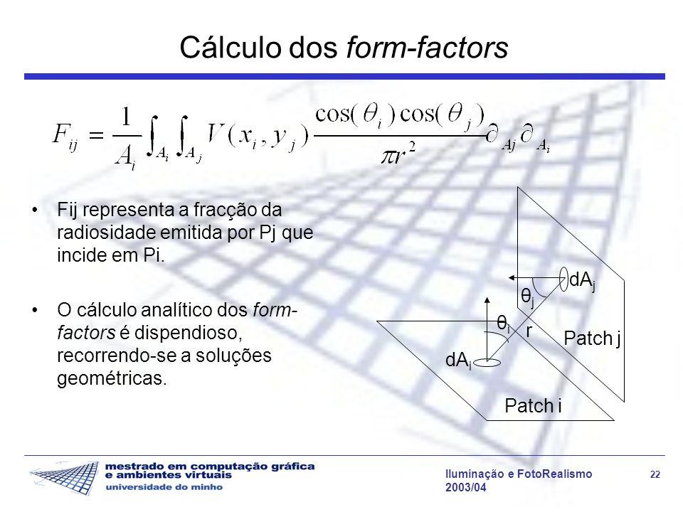 Cálculo dos form-factors