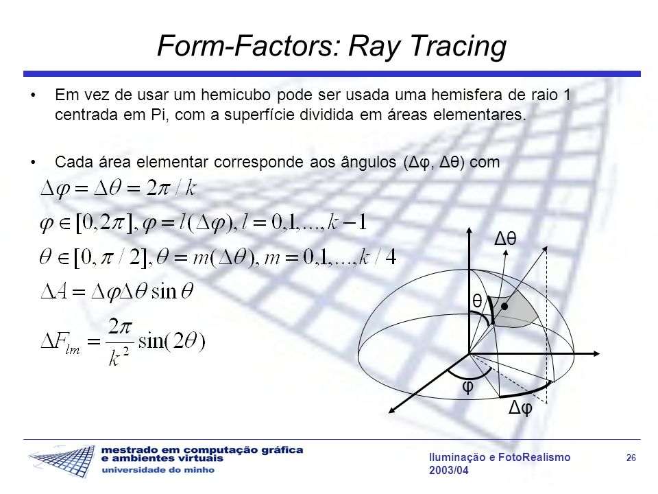 Form-Factors: Ray Tracing