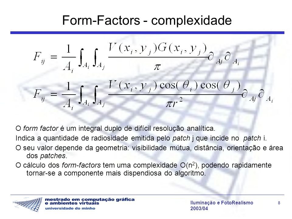 Form-Factors - complexidade