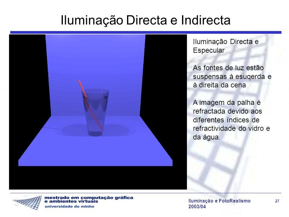 Iluminação Directa e Indirecta