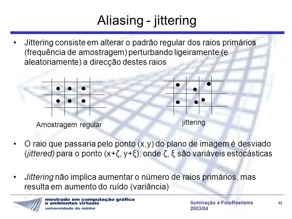 Aliasing - jittering