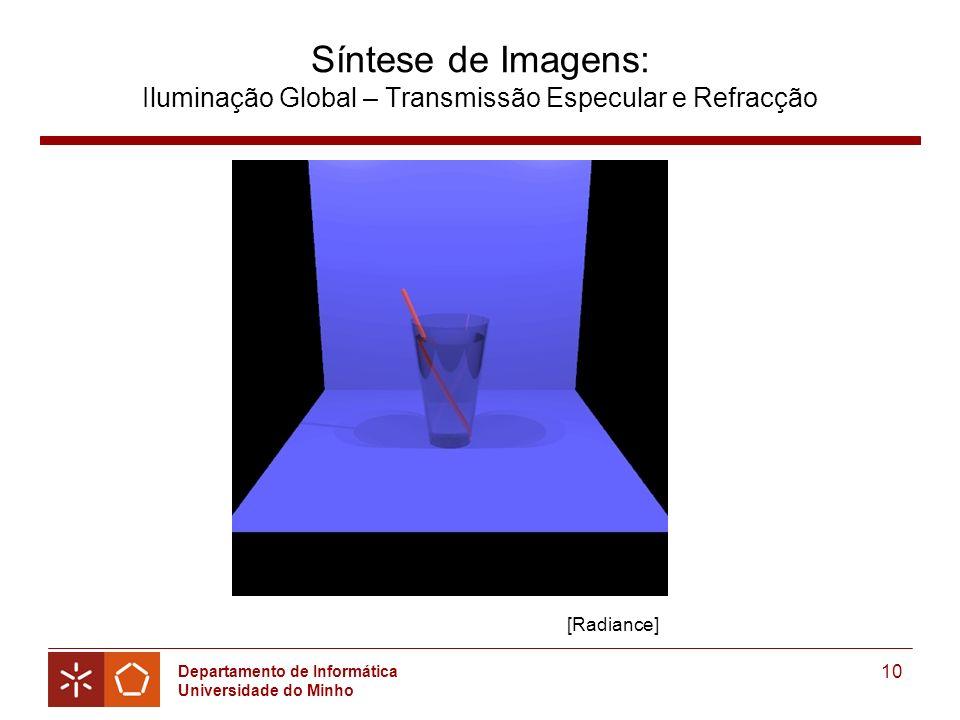 Síntese de Imagens: Iluminação Global – Transmissão Especular e Refracção