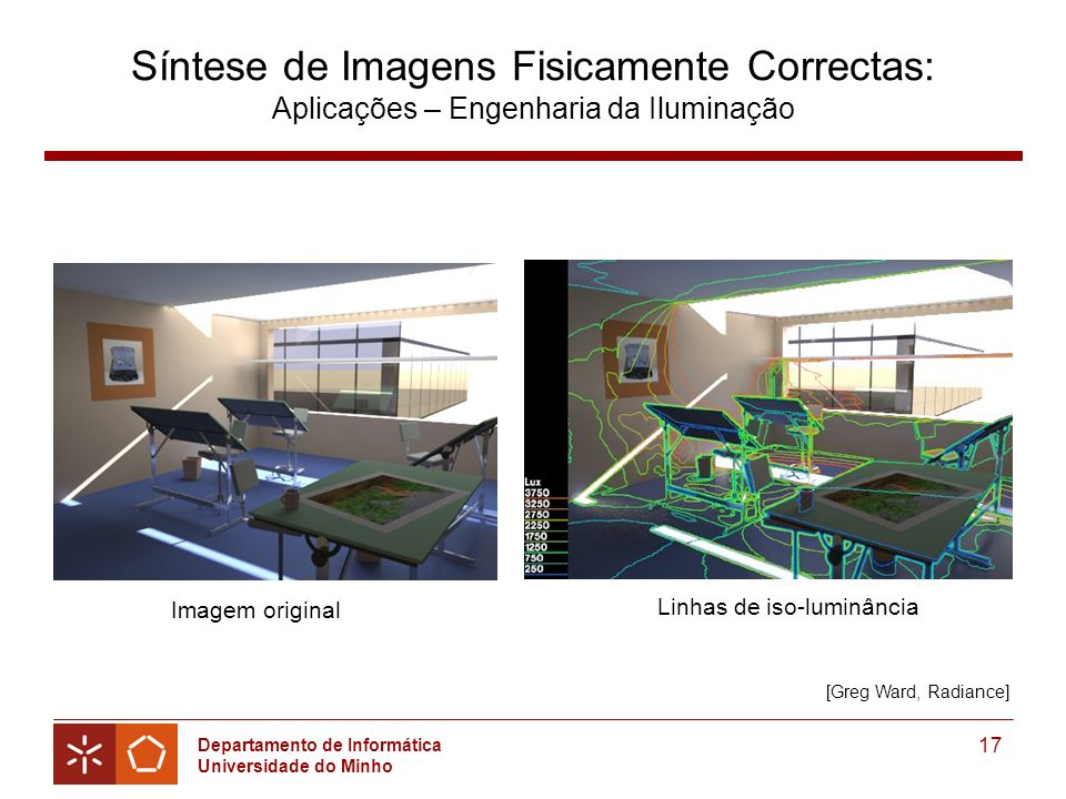 Síntese de Imagens Fisicamente Correctas: Aplicações – Engenharia da Iluminação