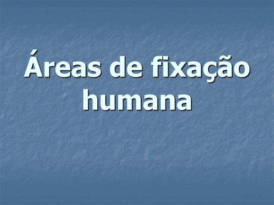 Áreas de fixação humana