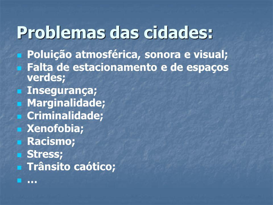 Problemas das cidades: