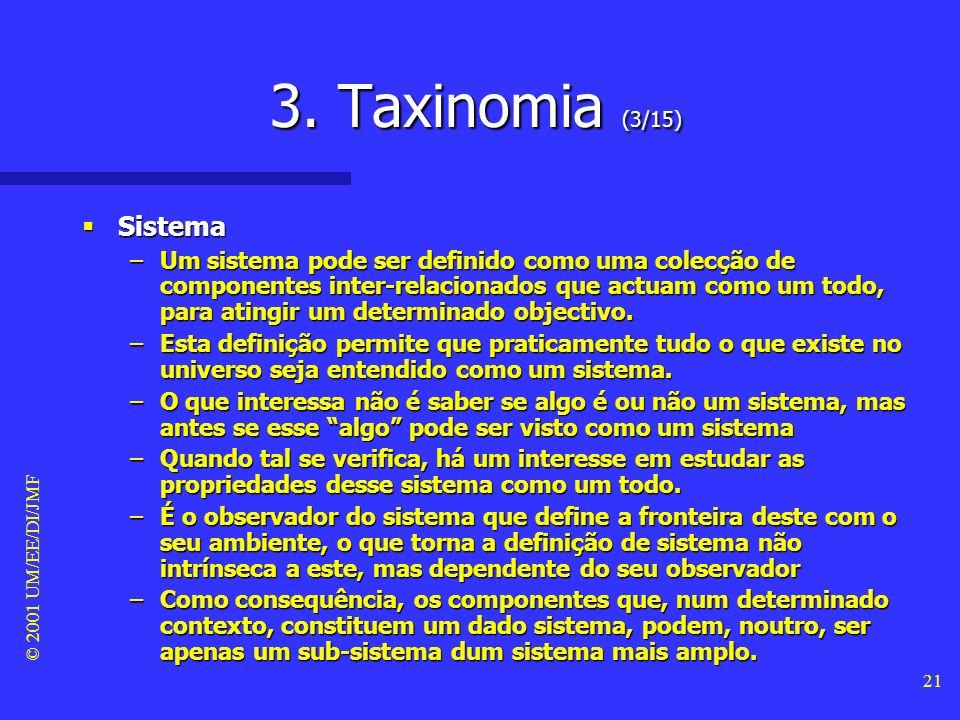 3. Taxinomia (3/15) Sistema.