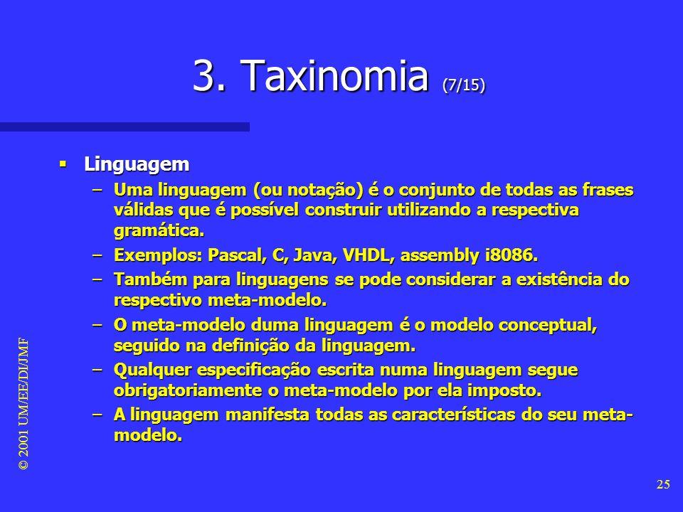 3. Taxinomia (7/15) Linguagem