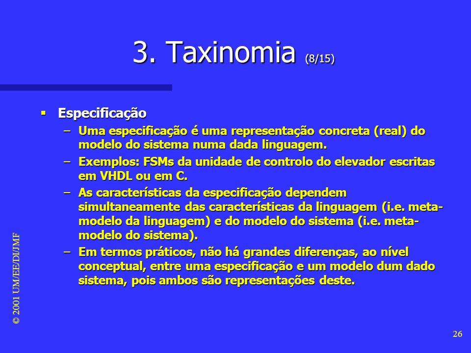 3. Taxinomia (8/15) Especificação