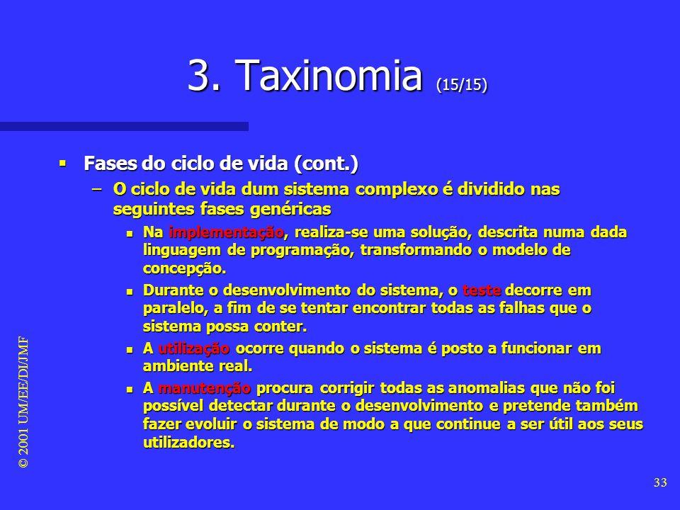 3. Taxinomia (15/15) Fases do ciclo de vida (cont.)