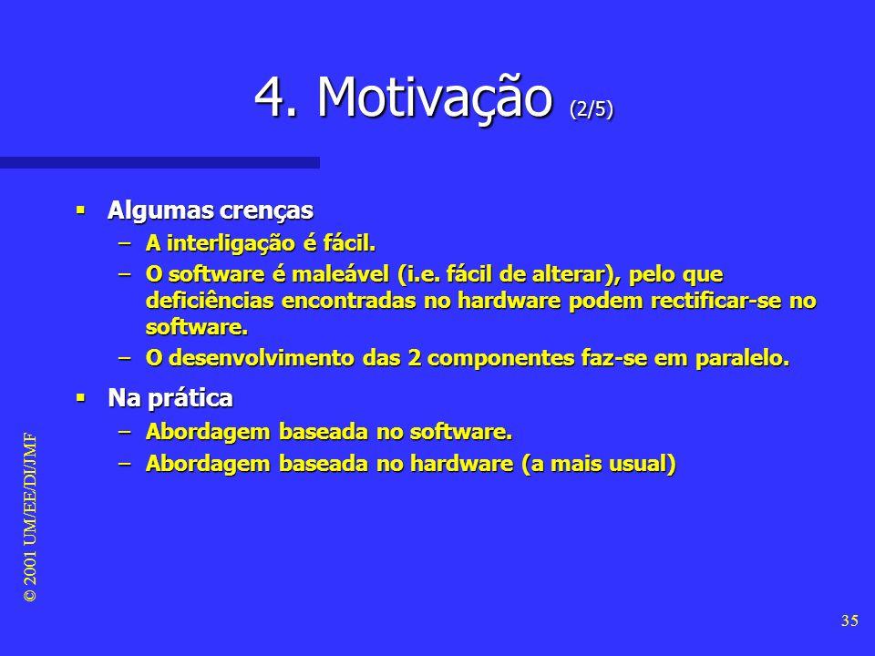 4. Motivação (2/5) Algumas crenças Na prática A interligação é fácil.