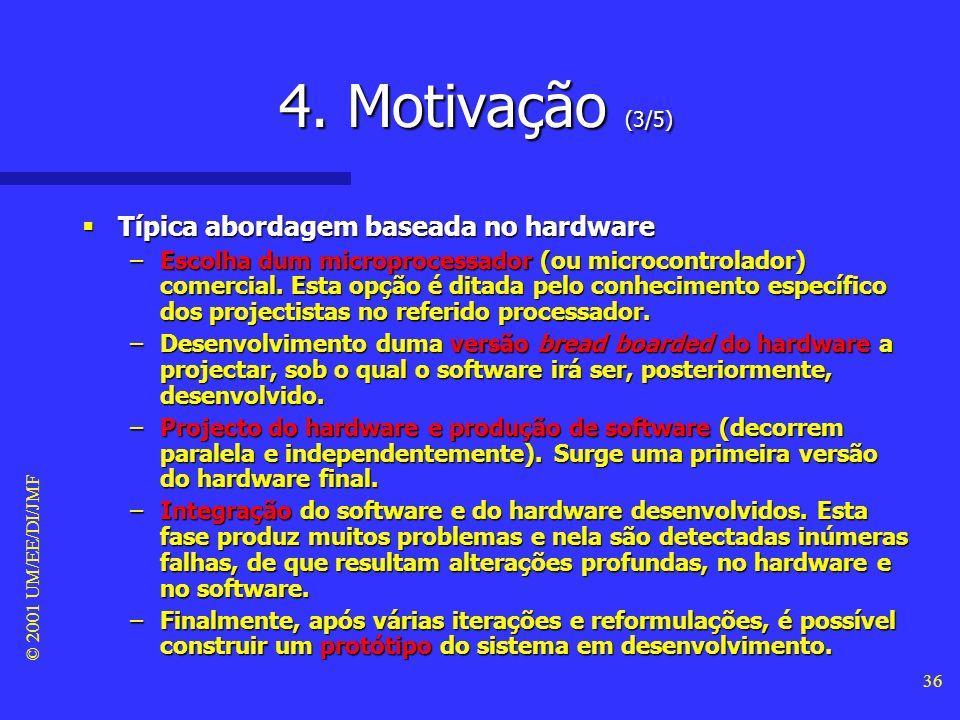 4. Motivação (3/5) Típica abordagem baseada no hardware