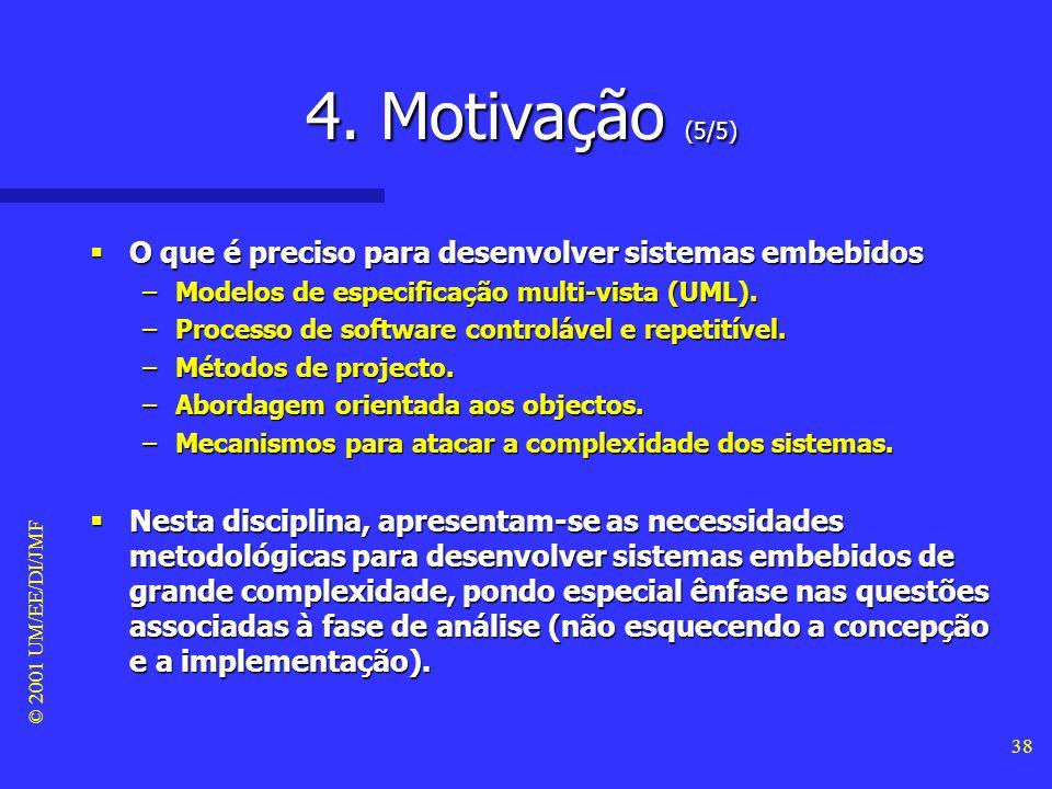 4. Motivação (5/5) O que é preciso para desenvolver sistemas embebidos