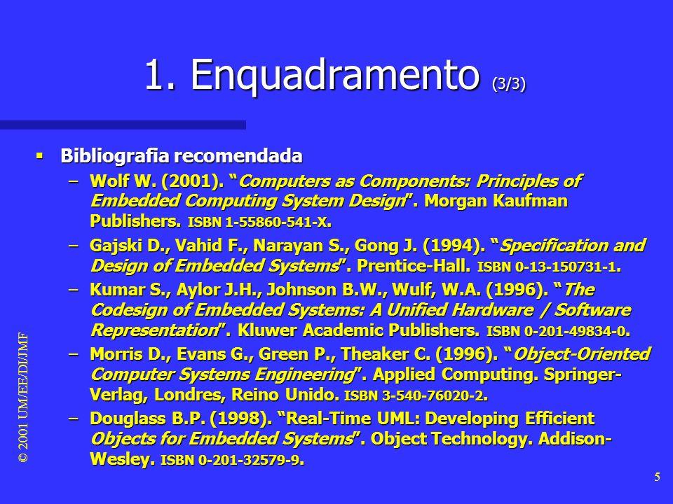 1. Enquadramento (3/3) Bibliografia recomendada