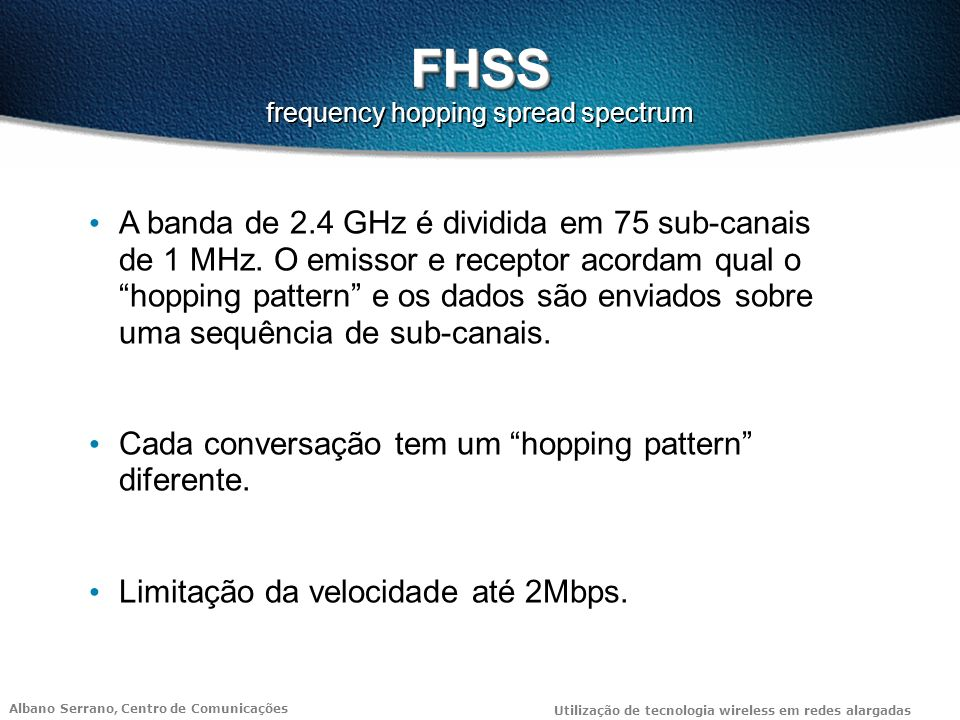 FHSS frequency hopping spread spectrum