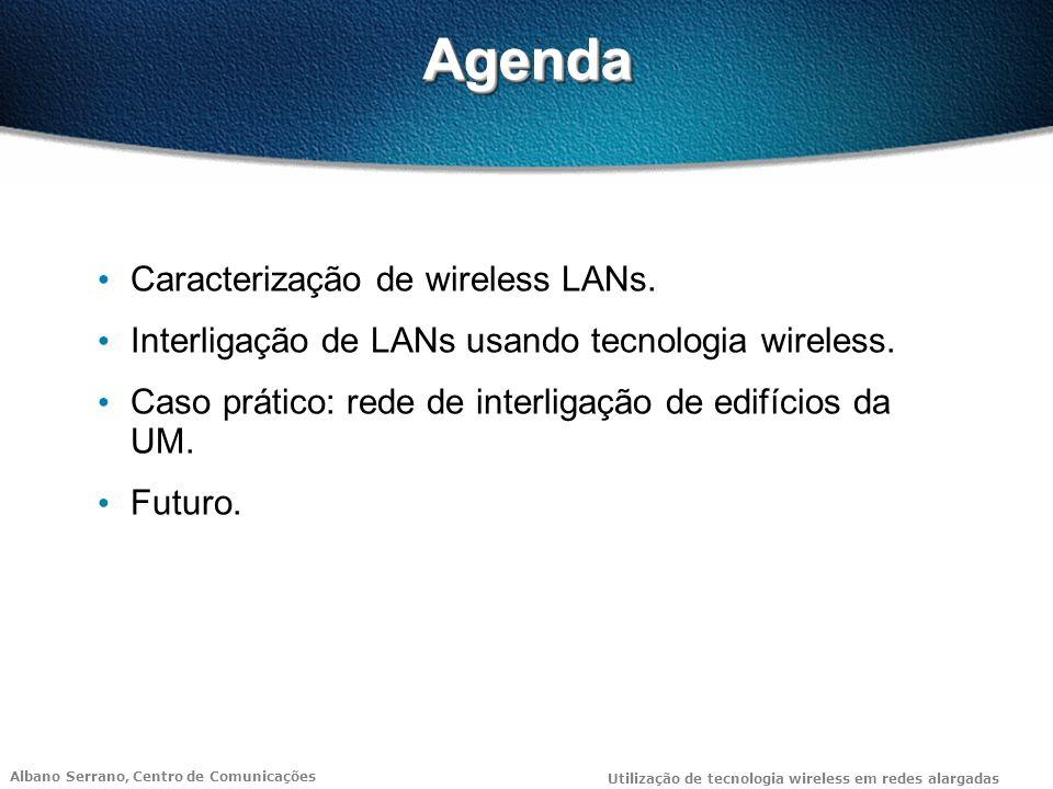 Agenda Caracterização de wireless LANs.