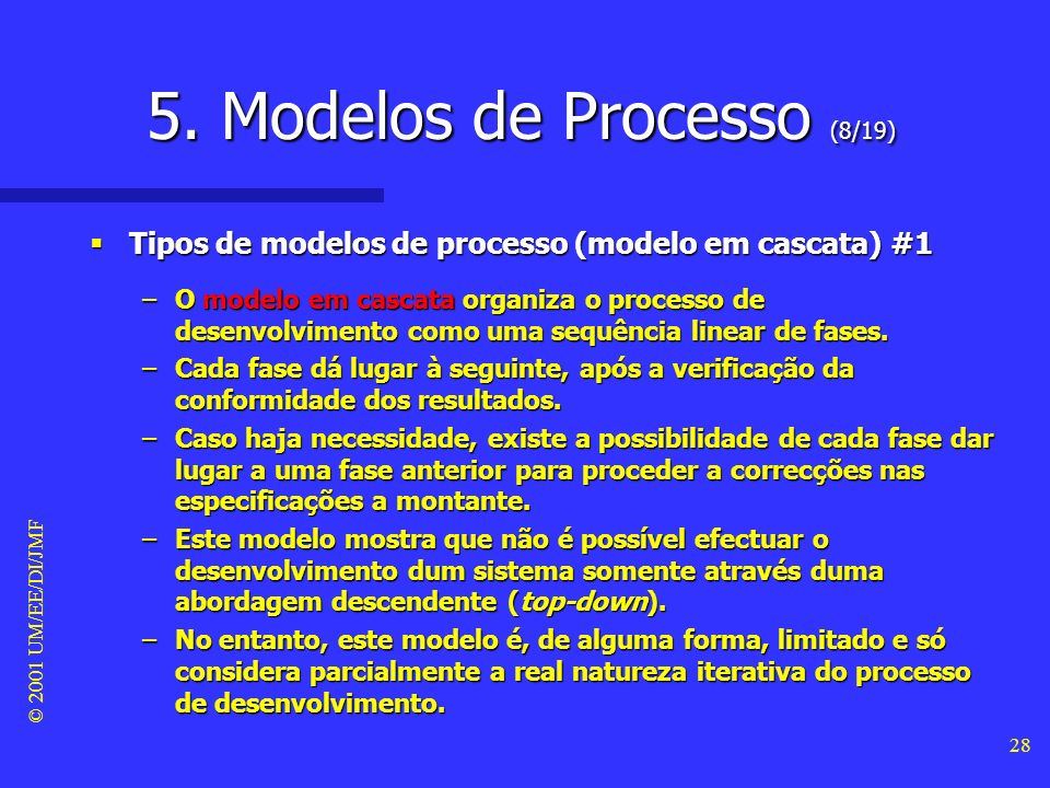 5. Modelos de Processo (8/19)