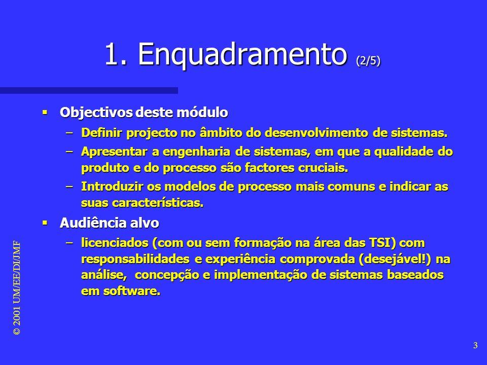 1. Enquadramento (2/5) Objectivos deste módulo Audiência alvo